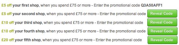 Waitrose voucher codes December 2012