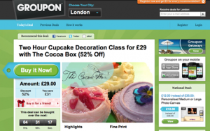 Groupon website and voucher