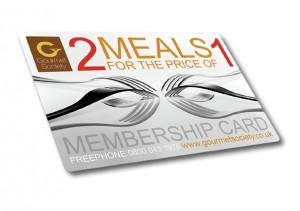 Gourmet Society Dining Card