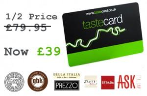 TasteCard offer