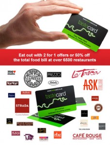 Tastecard discount
